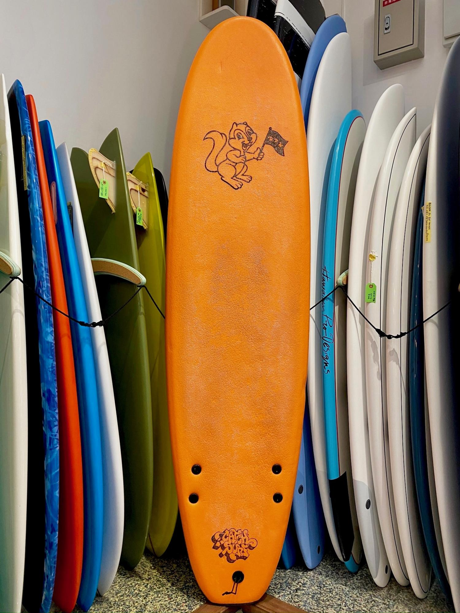 USED BOARDS (Barry McGee Pro Side Bite Fin 7.0 Neon Orange)