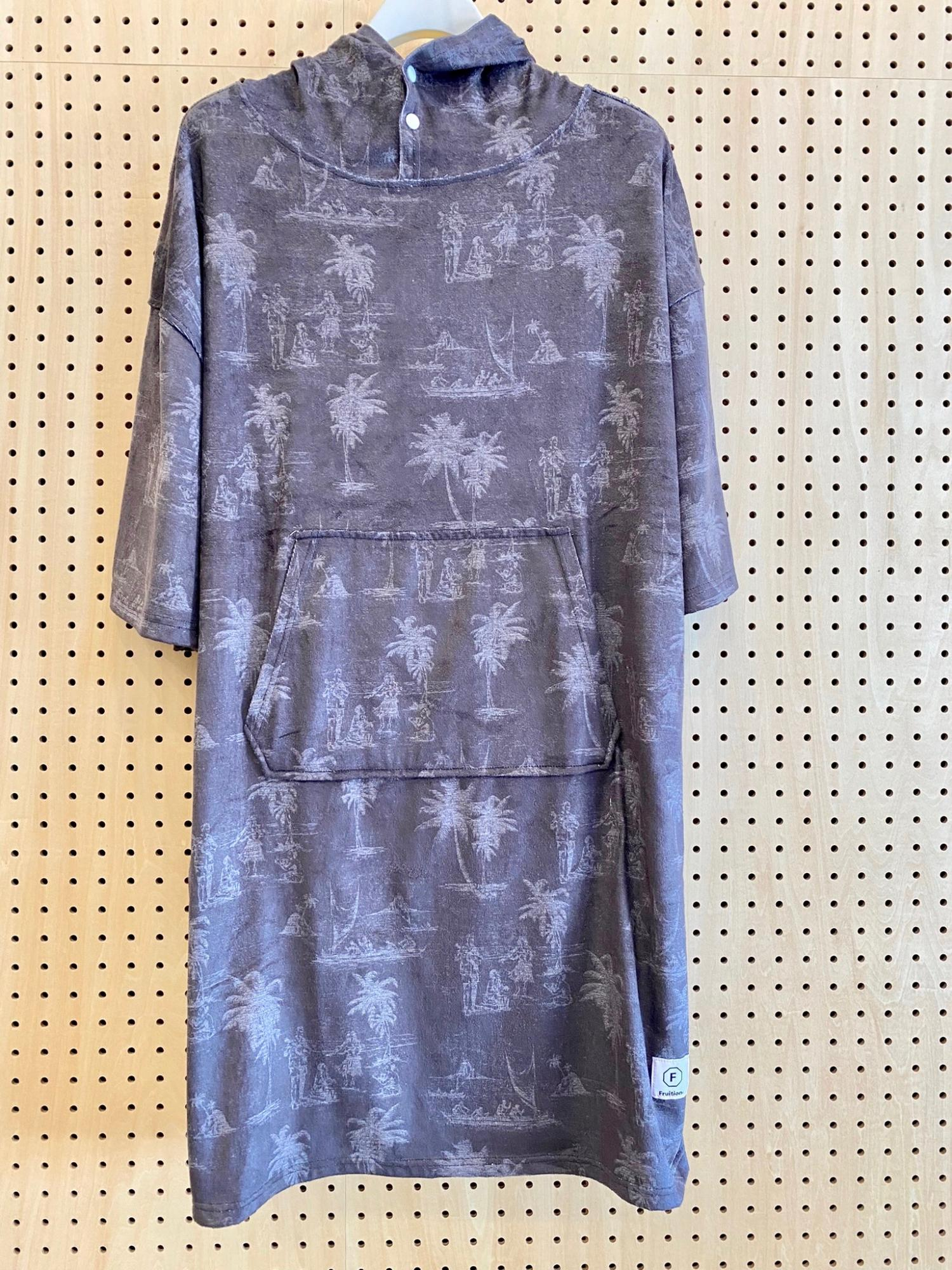 FRUTION Microfiber Poncho PAISLEY NVY