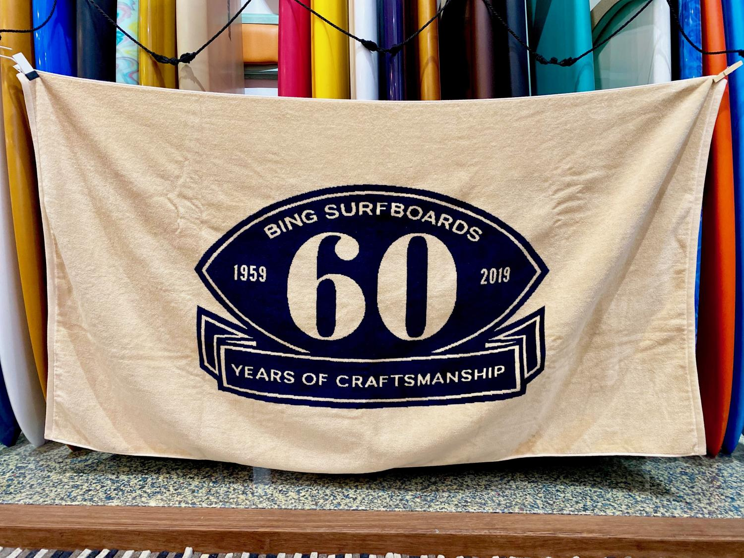 60TH BEACH TOWEL