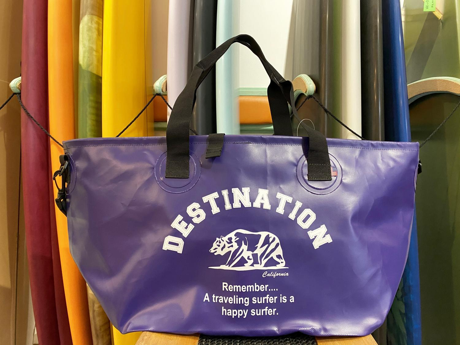 DESTINATION WET TOTE BAG BEAR LOGO PPL