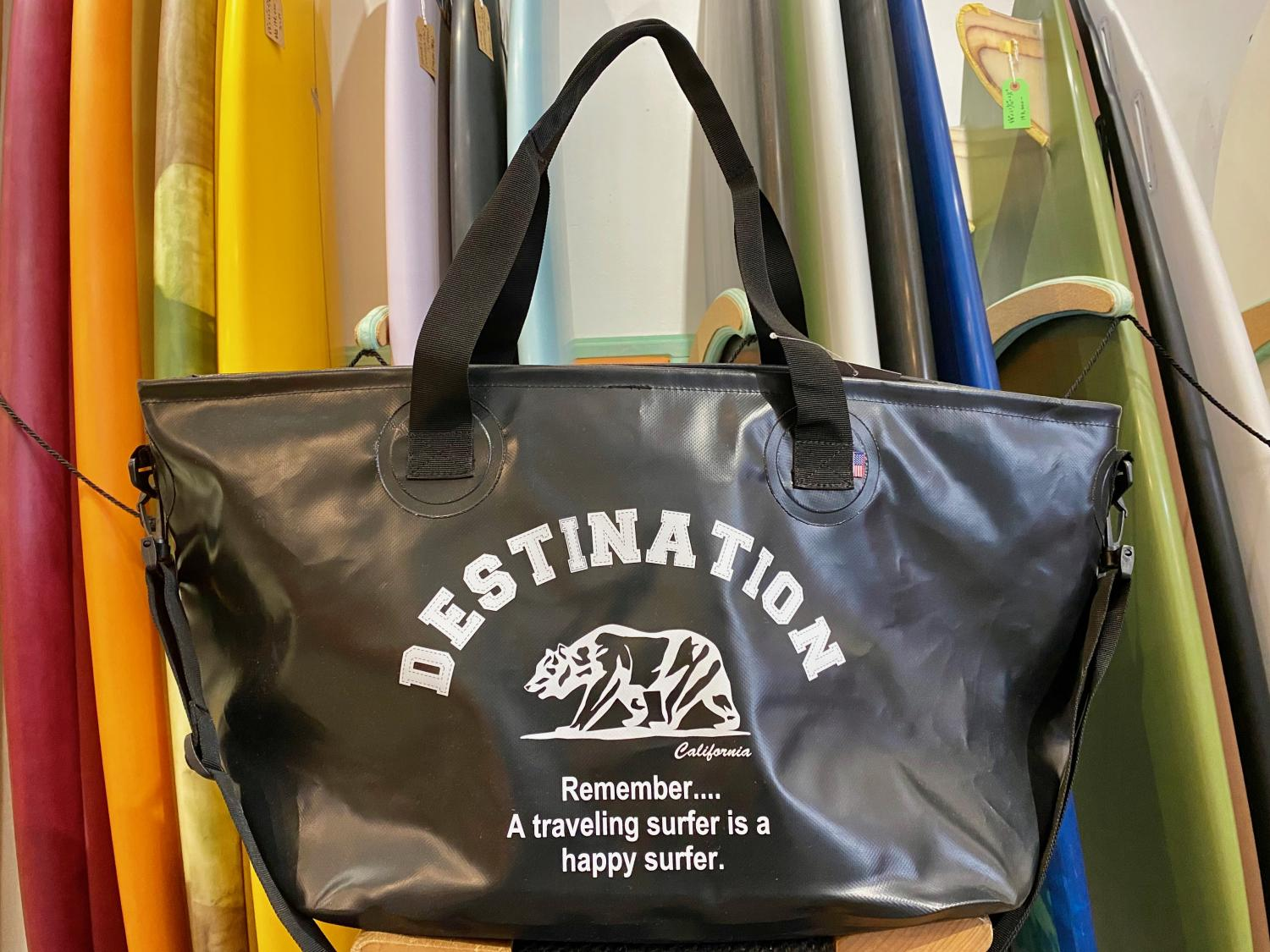 DESTINATION WET TOTE BAG BEAR LOGO BLK