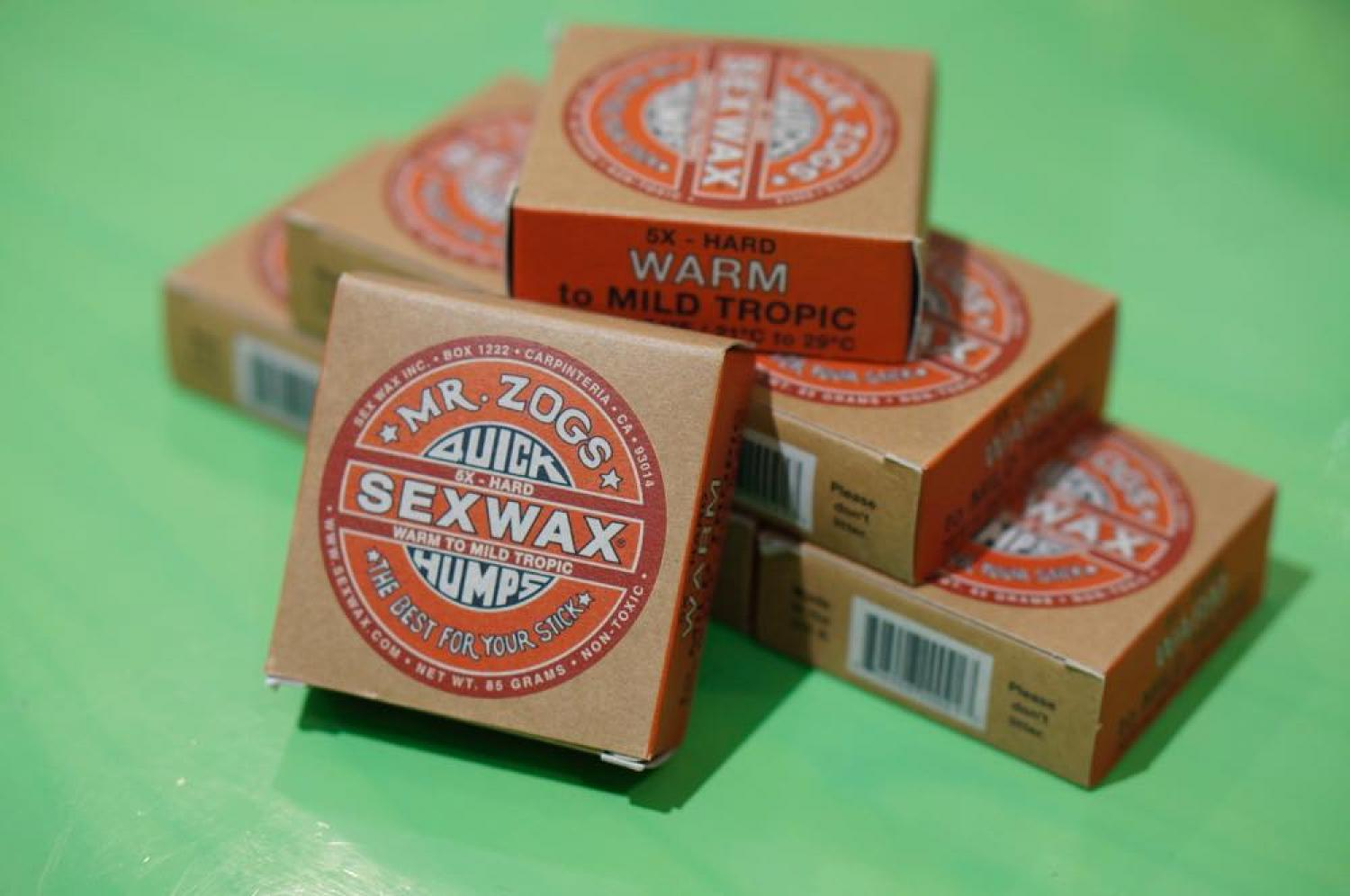 sex wax 5X RED LABEL WARM to WARM TROPIC