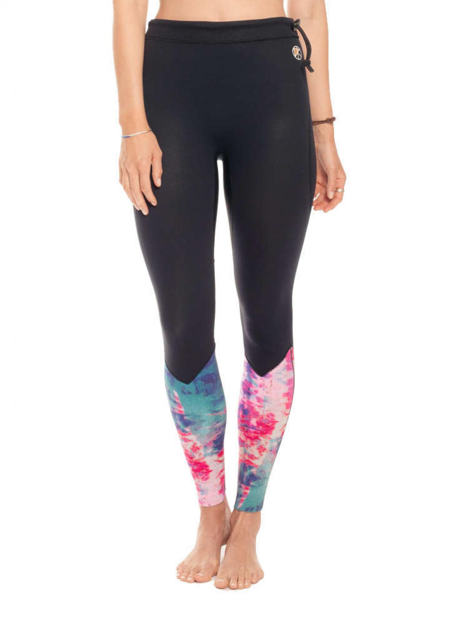 KASSIA + SURF  2MM REVERSIBLE SURF LEGGINGS  Pink-Turquoise