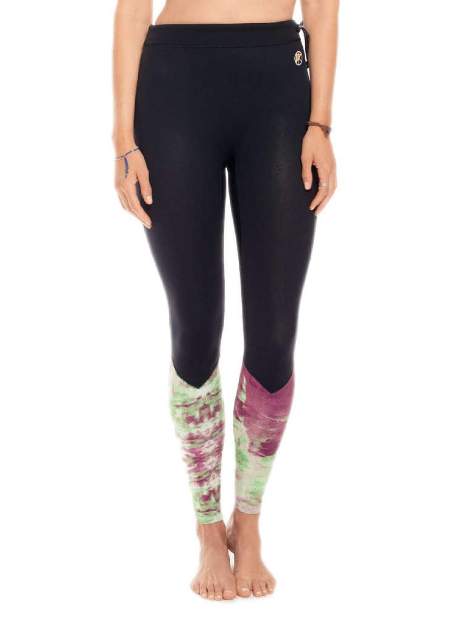 KASSIA + SURF  2MM REVERSIBLE SURF LEGGINGS Purple Green