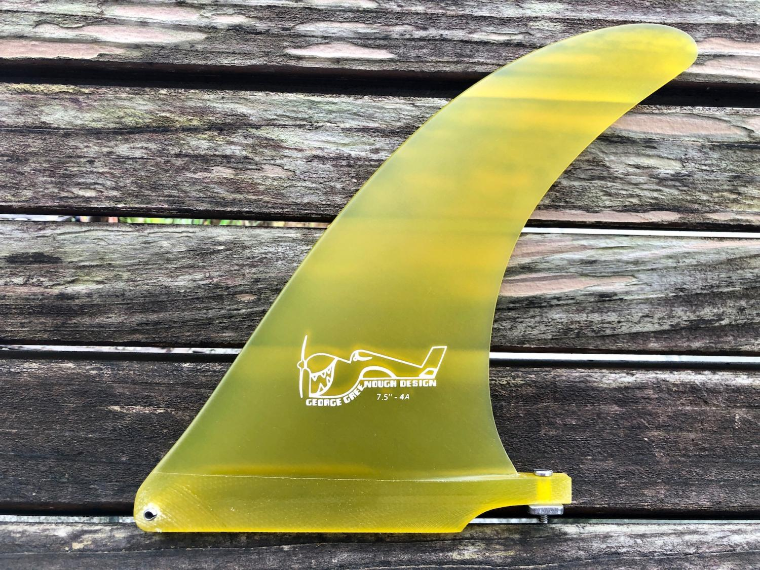 7.5 4A Solid Yellow George Greenough Design 【TRUE AMES FIN】