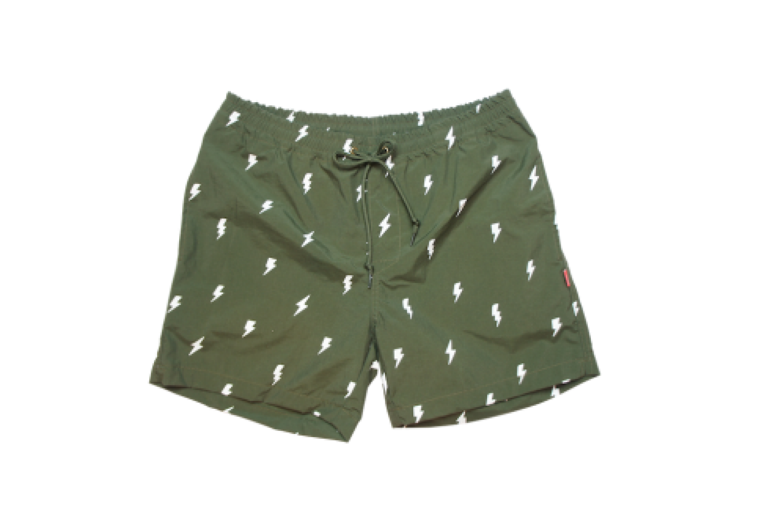 [THE HARD MAN]  Shirring shorts Thunder カーキ