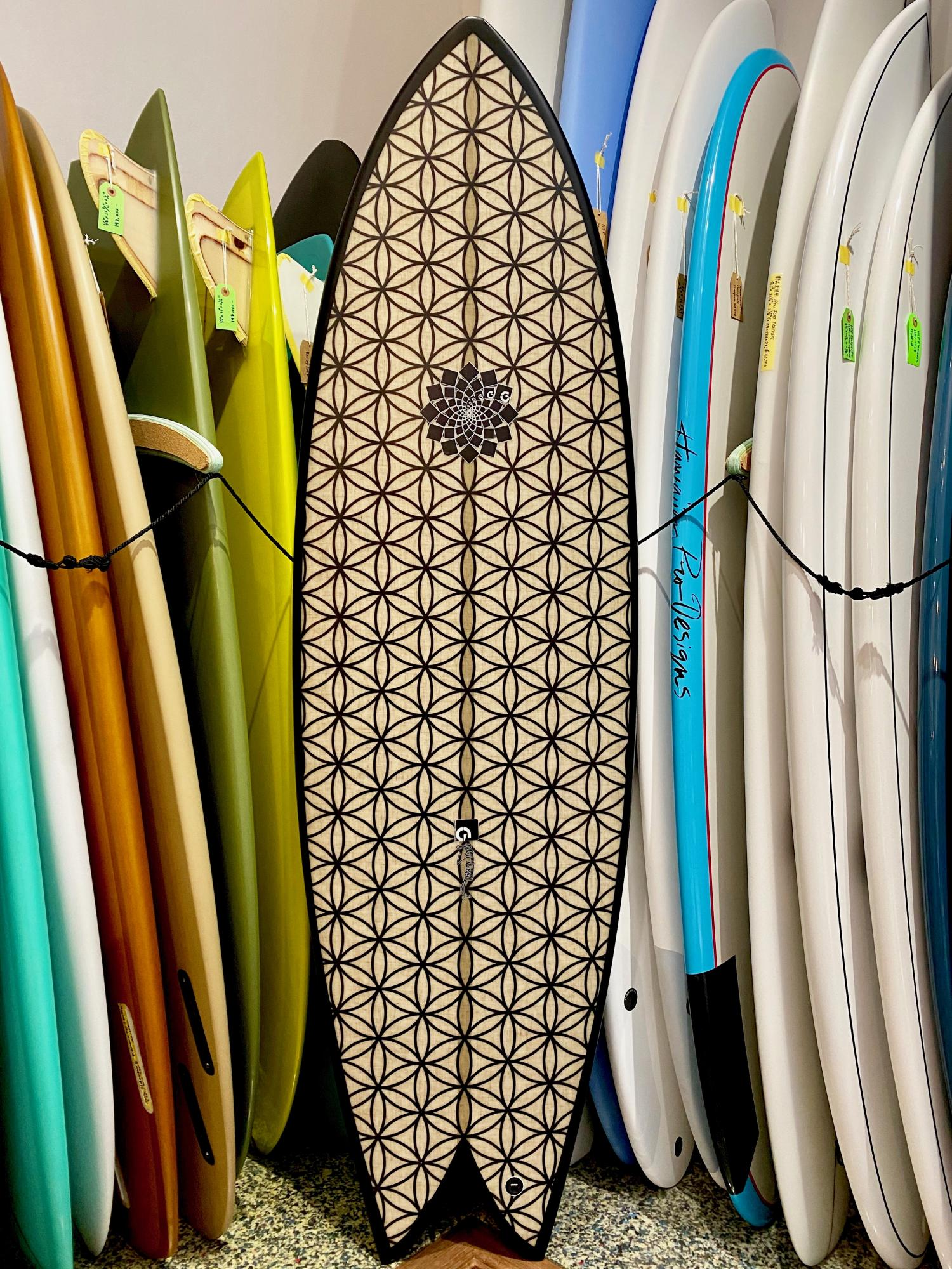 USED BOARDS  (Gary Mcneill Concepts Surfboards RASTA TORUS TWIN 5.9 )