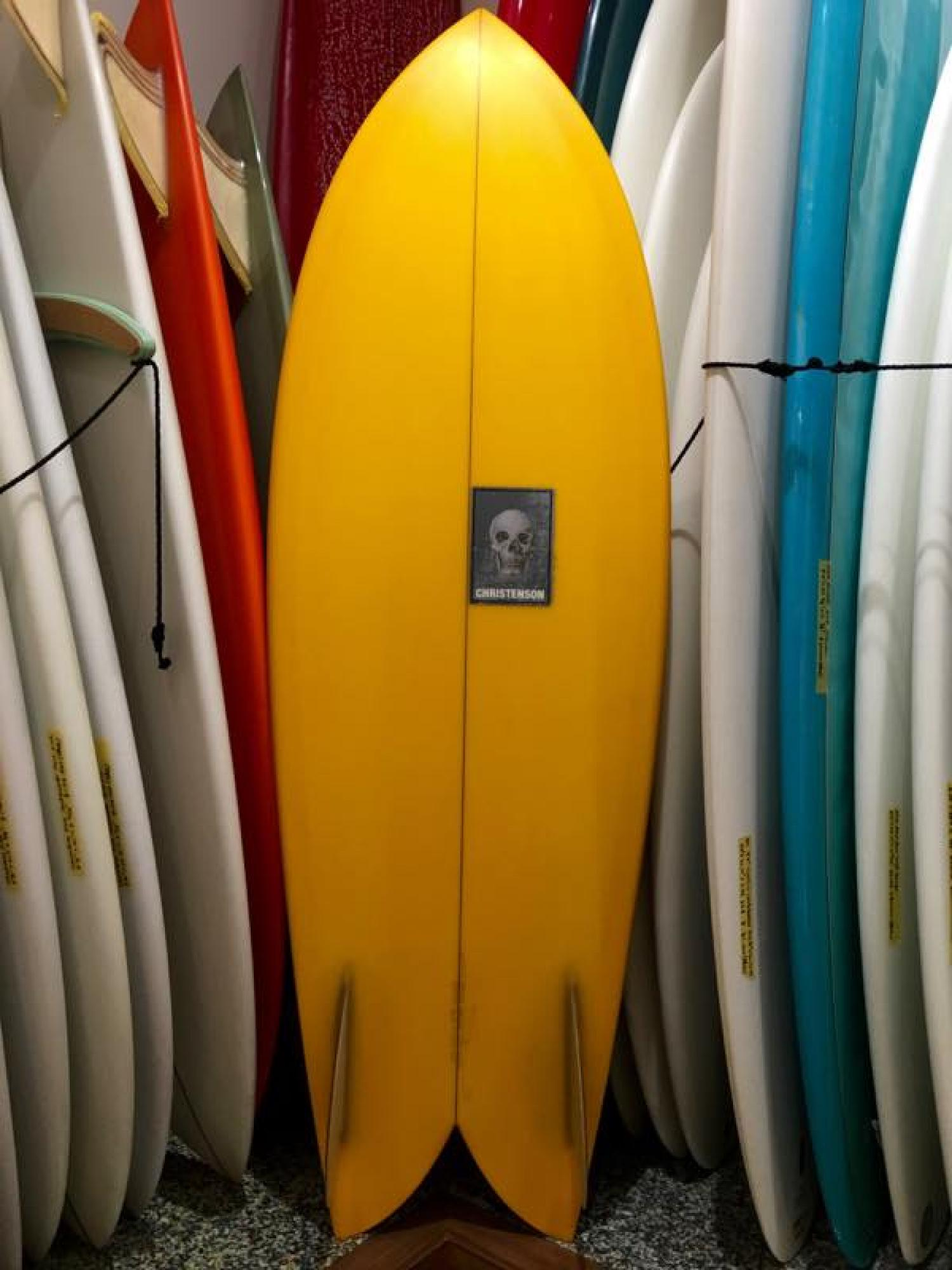 TWIN FISH 5.5 FH Yellow Tint [CHRISTENSON SURFBOARDS]
