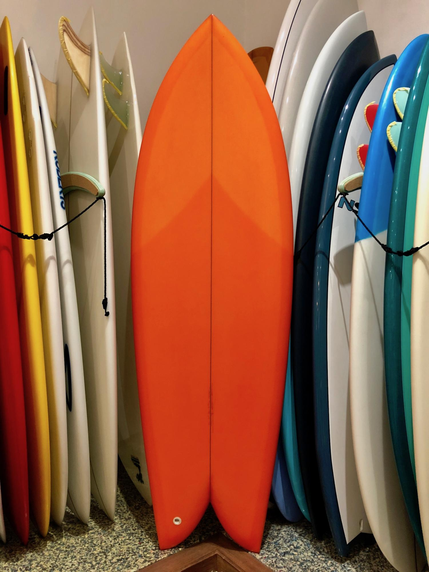 TWIN FISH 5.7 Racing Orange Tint [CHRISTENSON SURFBOARDS]