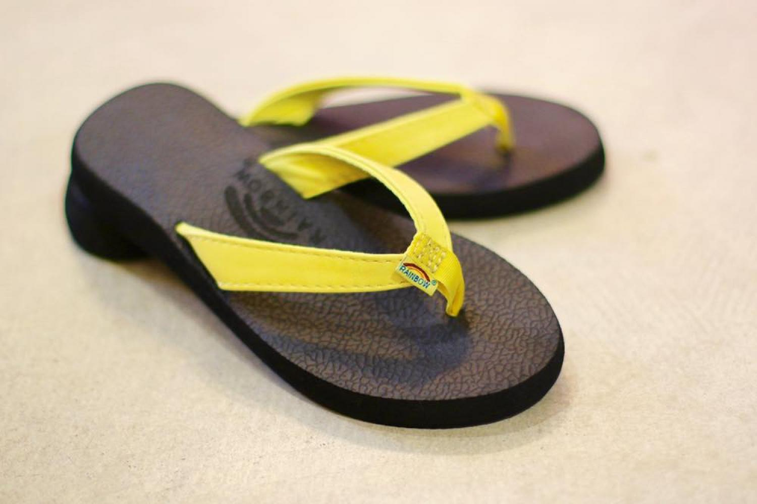 RAINBOW SANDALS WOMEN'S Cottons  Soft Rubber LEMON YELLOW