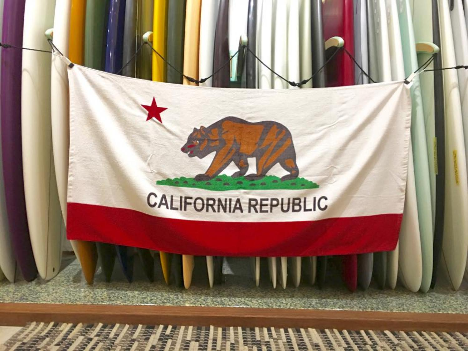 California Republic State Flag Bear Beach Towel