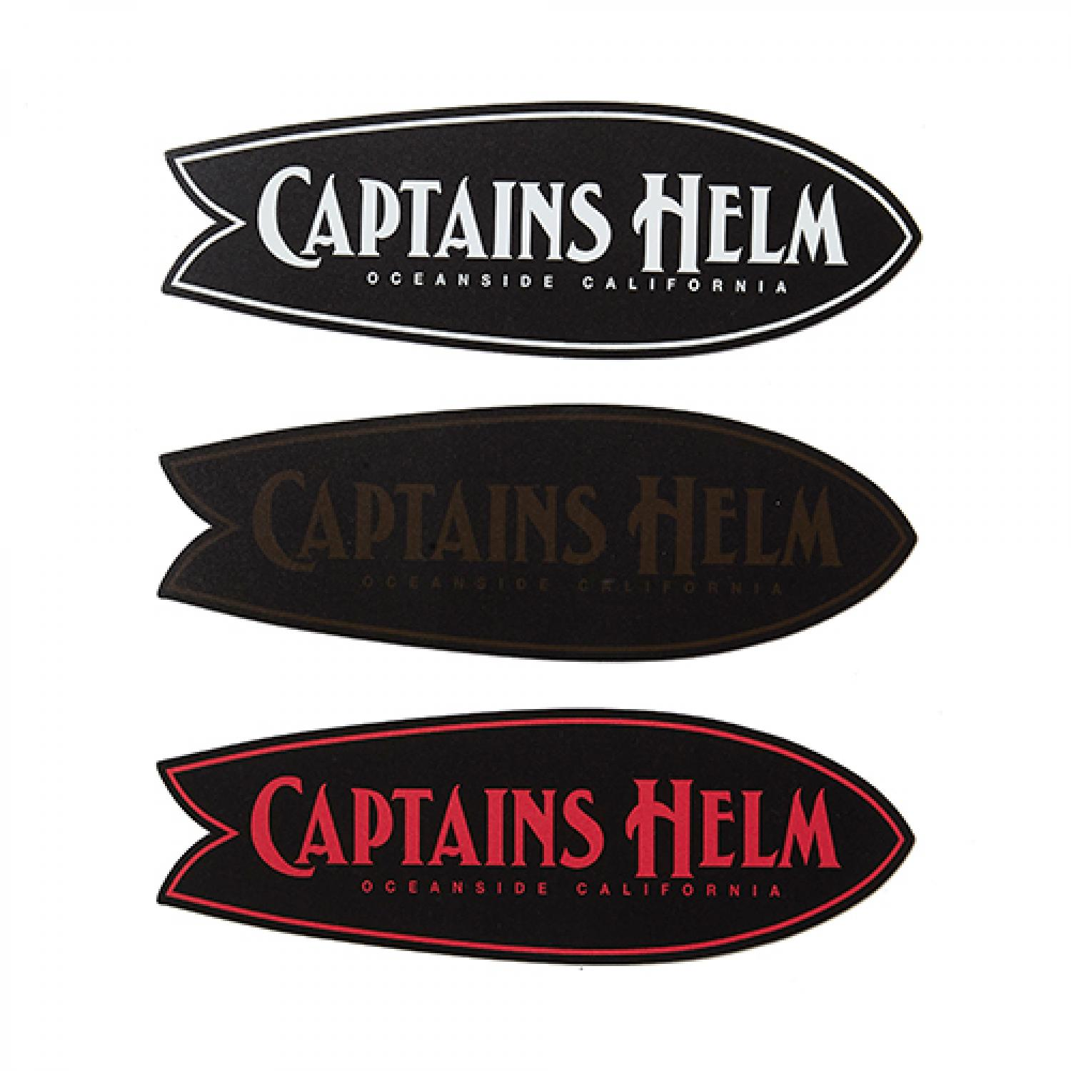 CAPTAINS HELM FISH MAGNET STICKER