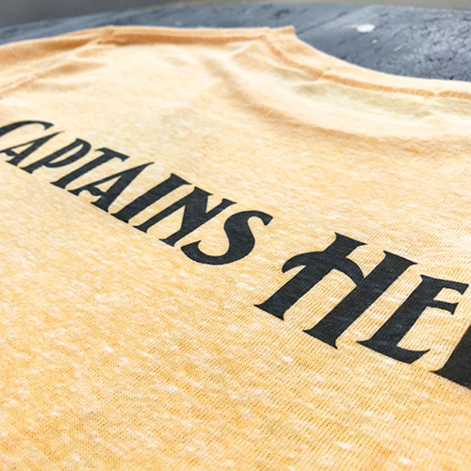 CAPTAINS HELM × BYRD BIG B TEE YELLOW