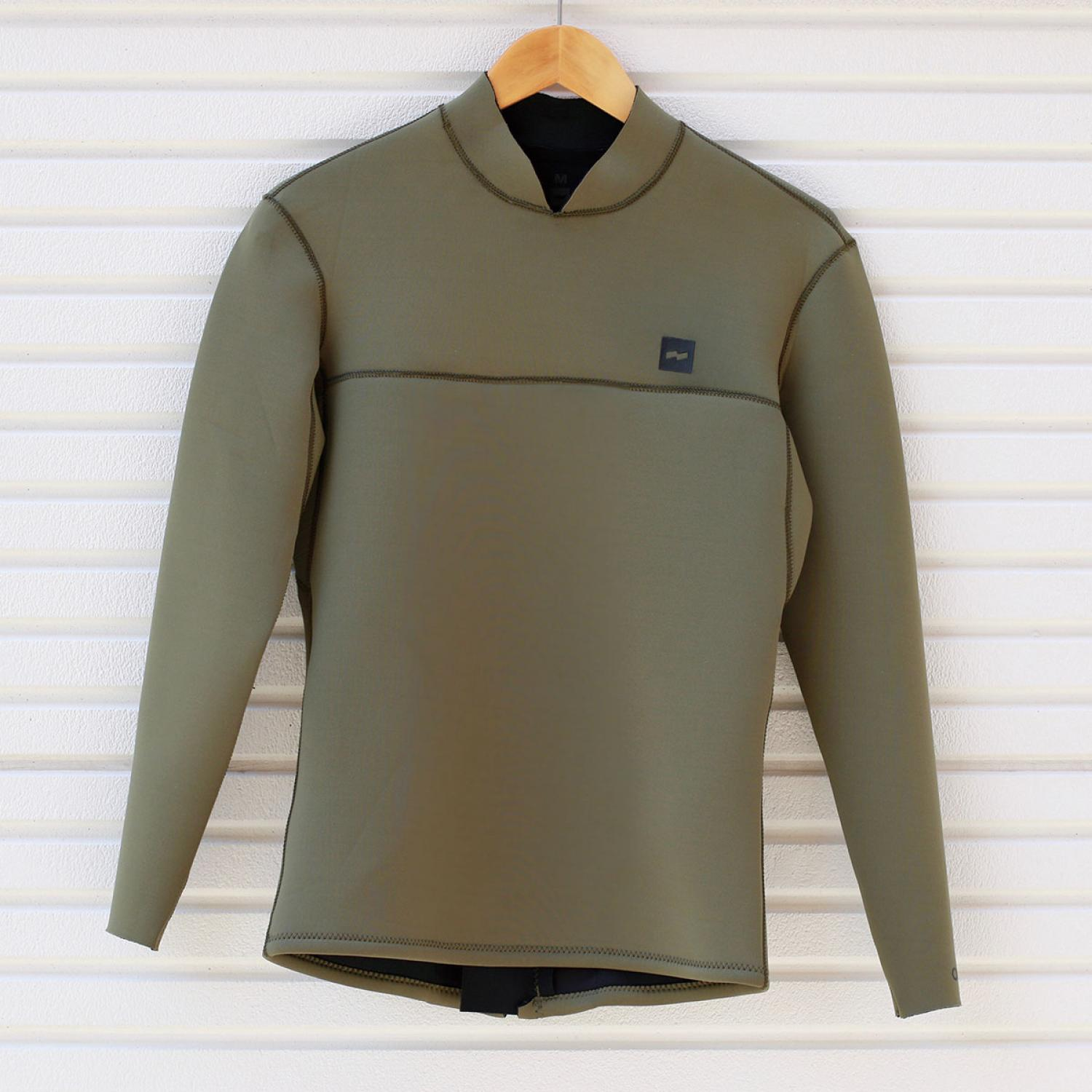 BANKS ONE BACK ZIP JACKET WETSUIT UTILITY GREEN
