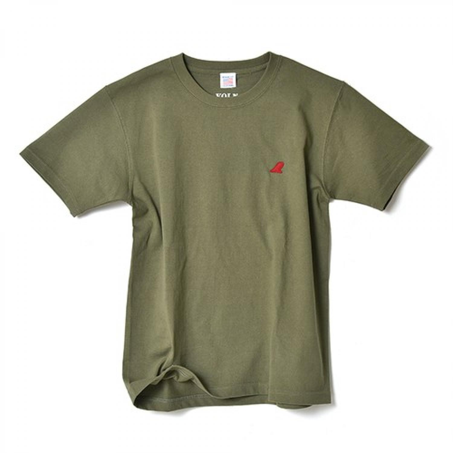 VOLN CREW NECK T-SHIRT  RED FIN  OLIVE