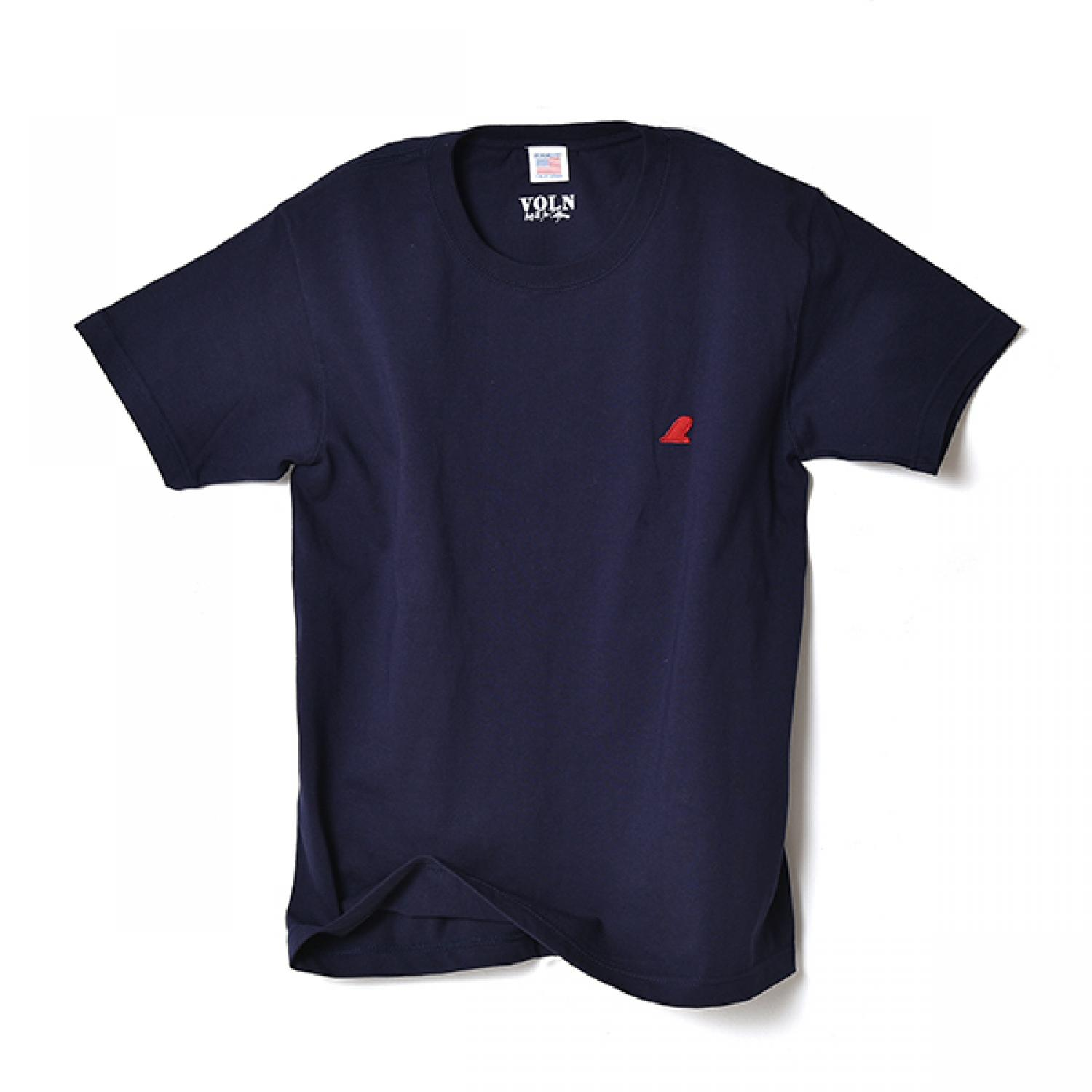 VOLN CREW NECK T-SHIRT  RED FIN  NAVY