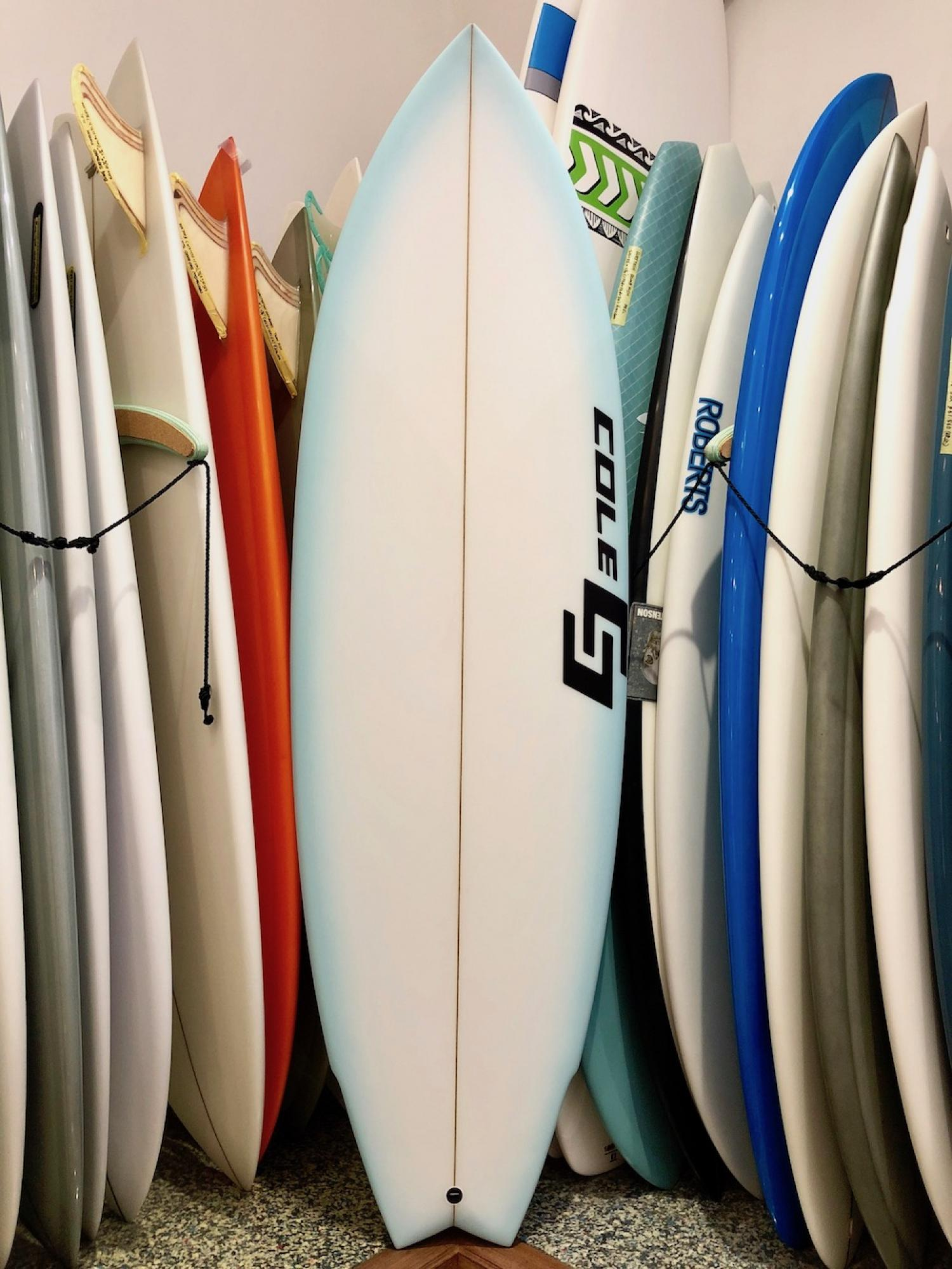 Road Tripper COLE SURFBOARDS 5.8 Cyan Fade Airbrush