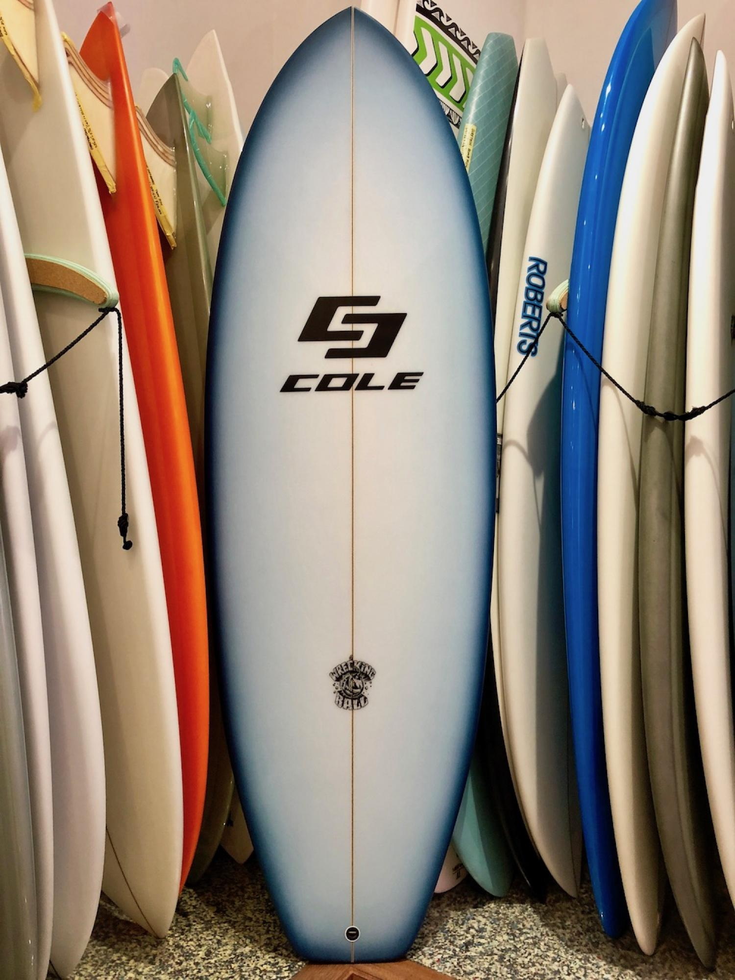 Wrecking Ball COLE SURFBOARDS 5.5 Navy Fade Airbrush