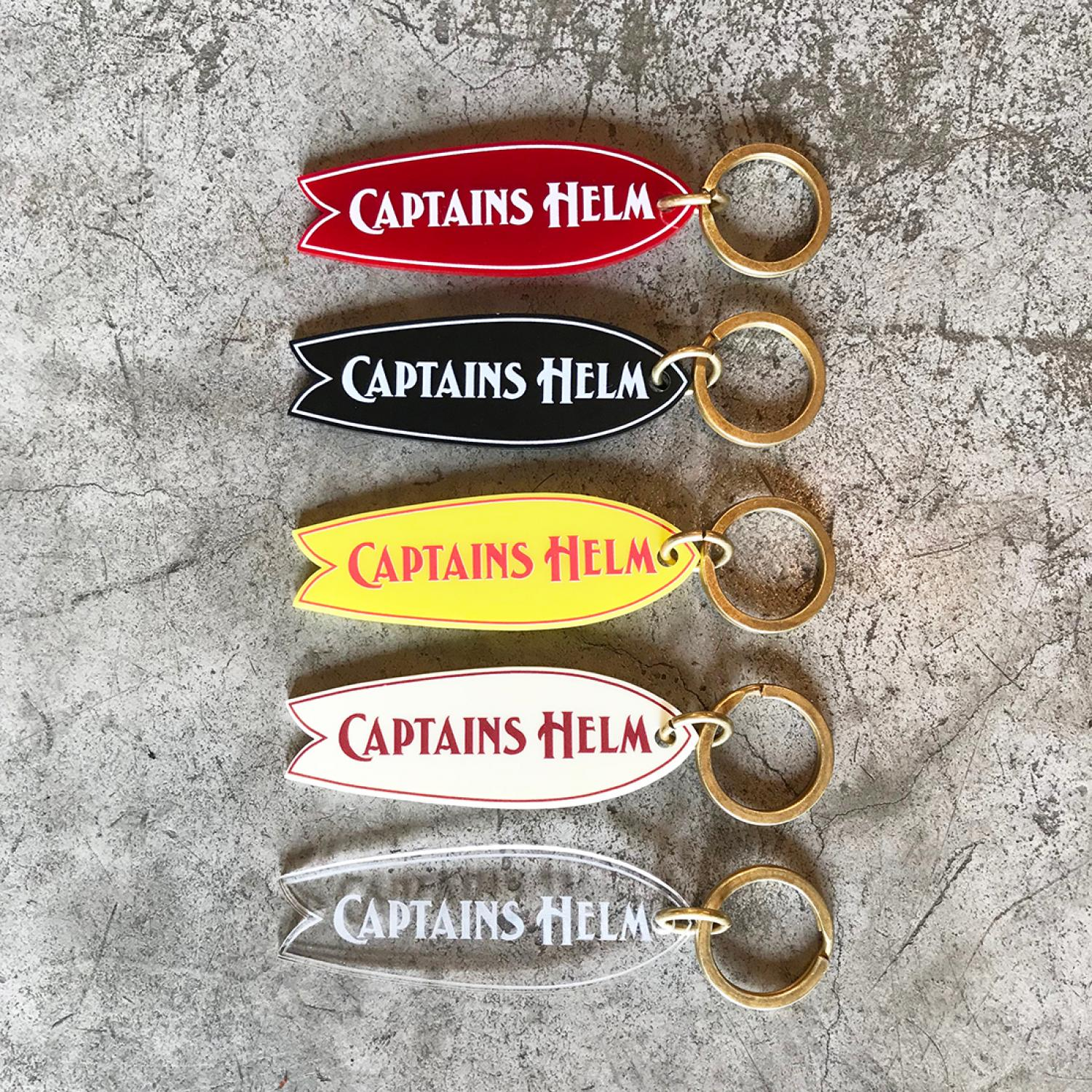 CAPTAINS HELM FISH KEY TAG