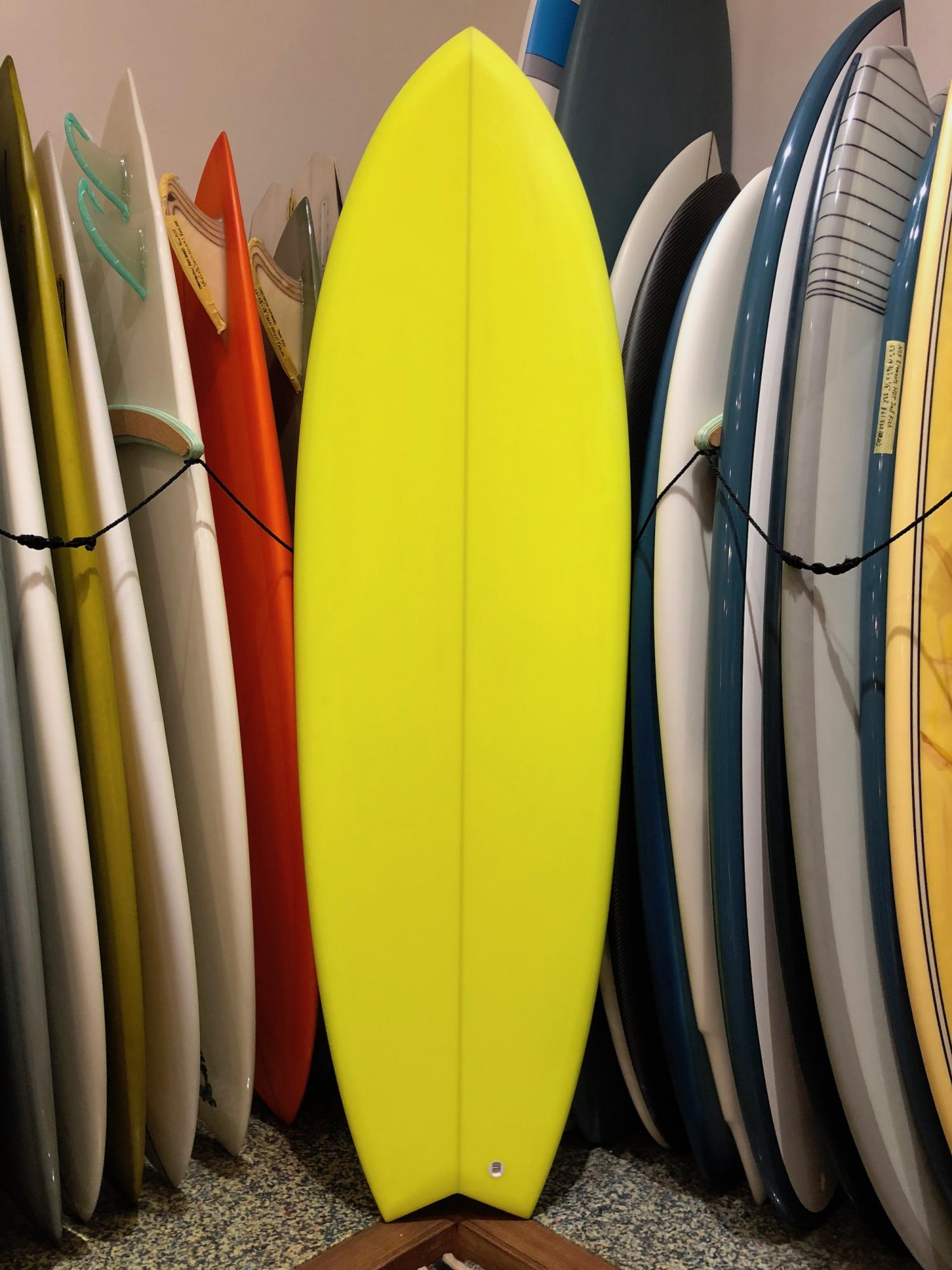 5.10 TRI FISH Real deal surf design Neon yellow