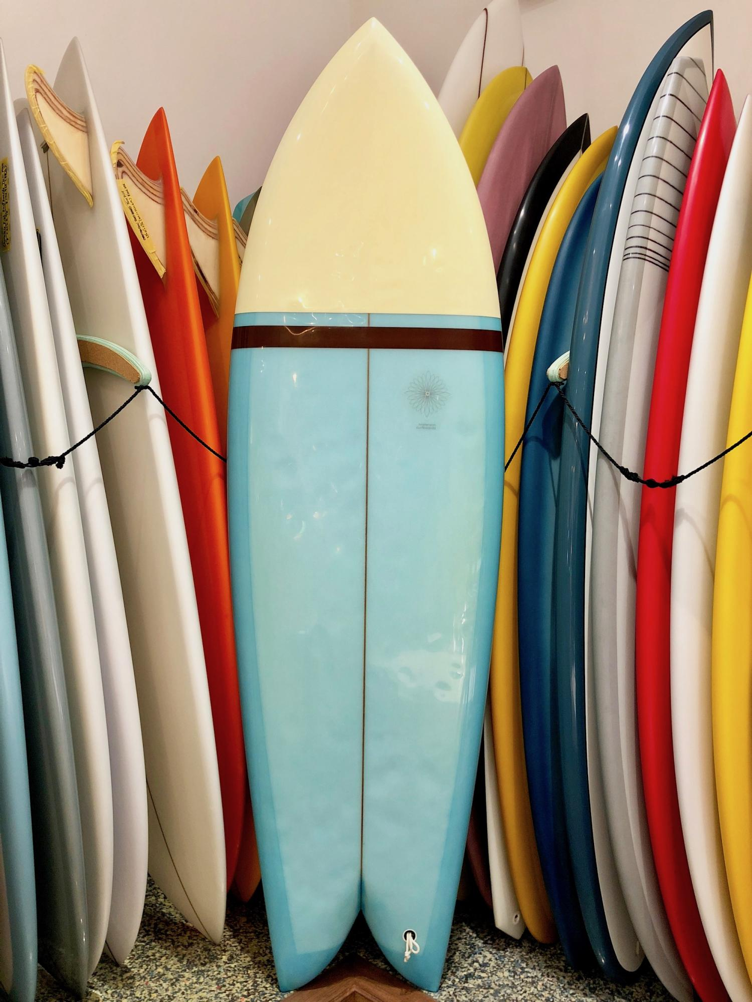 USED BOARDS (CHRISTENSON SURFBOARDS TWIN FISH 5.11)