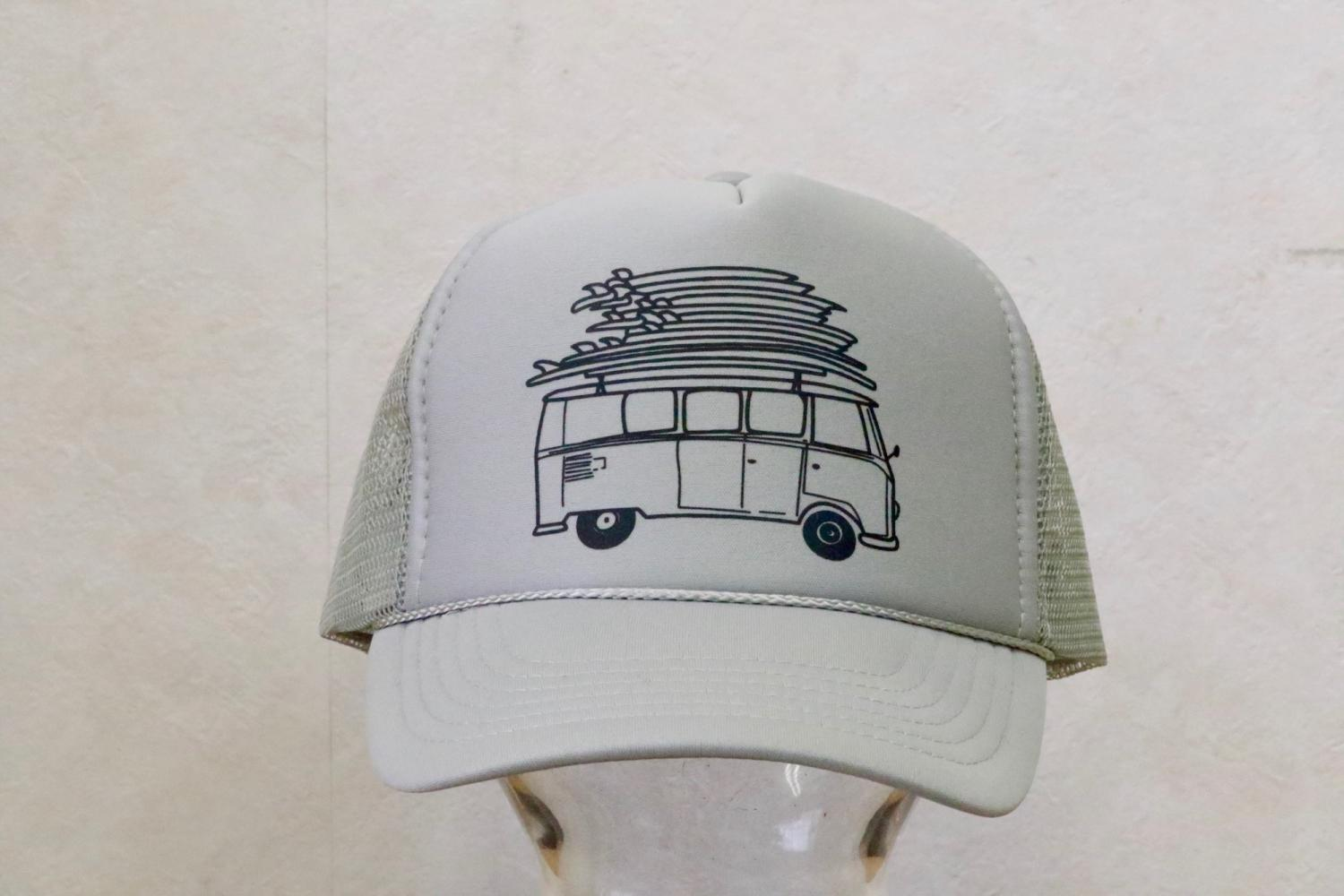 Surfy Surfy Board on car roof Design TRUCKER HAT For KIDS