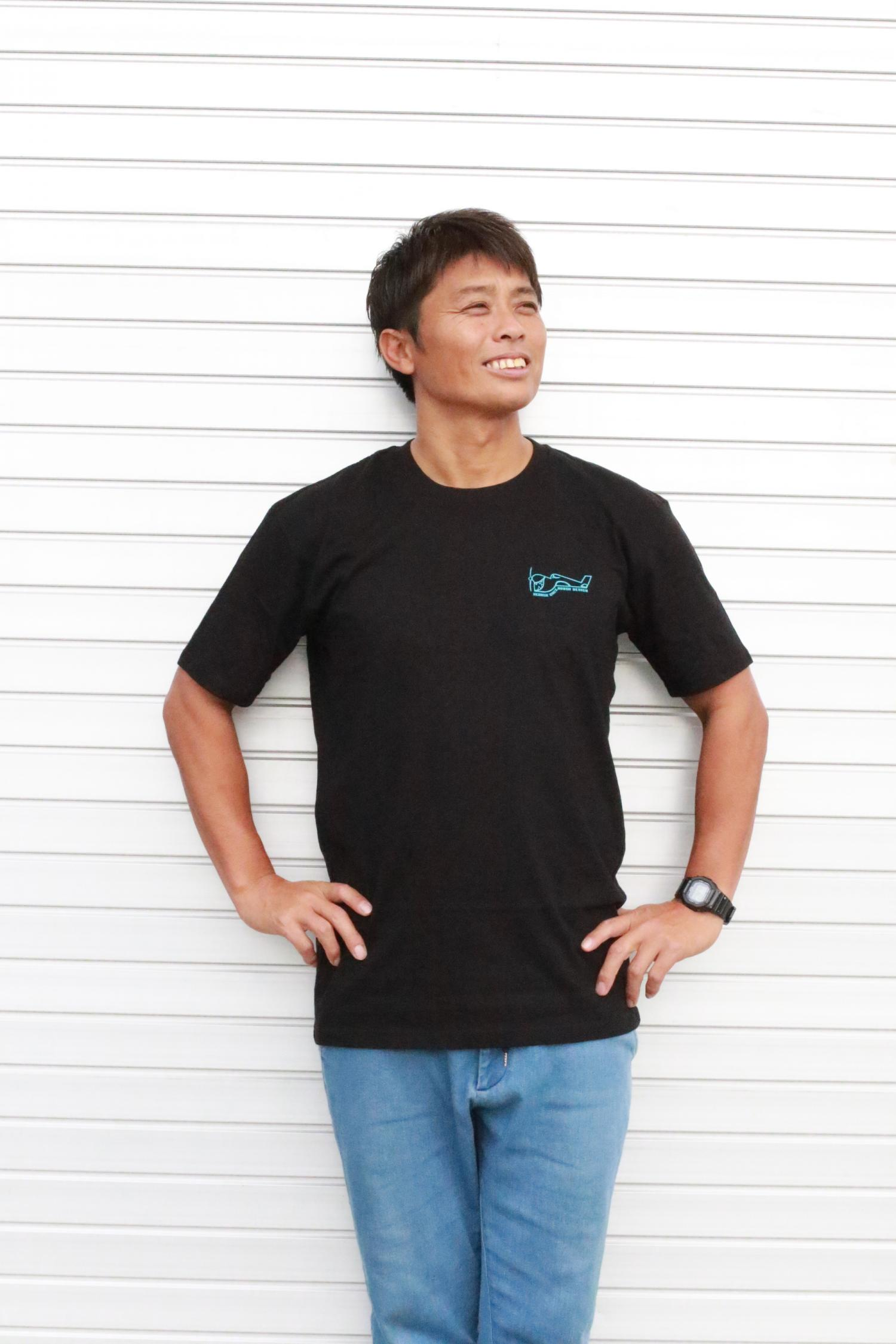 GREENOUGH AIRPLANE BACK LOGO T-SHIRT BLK