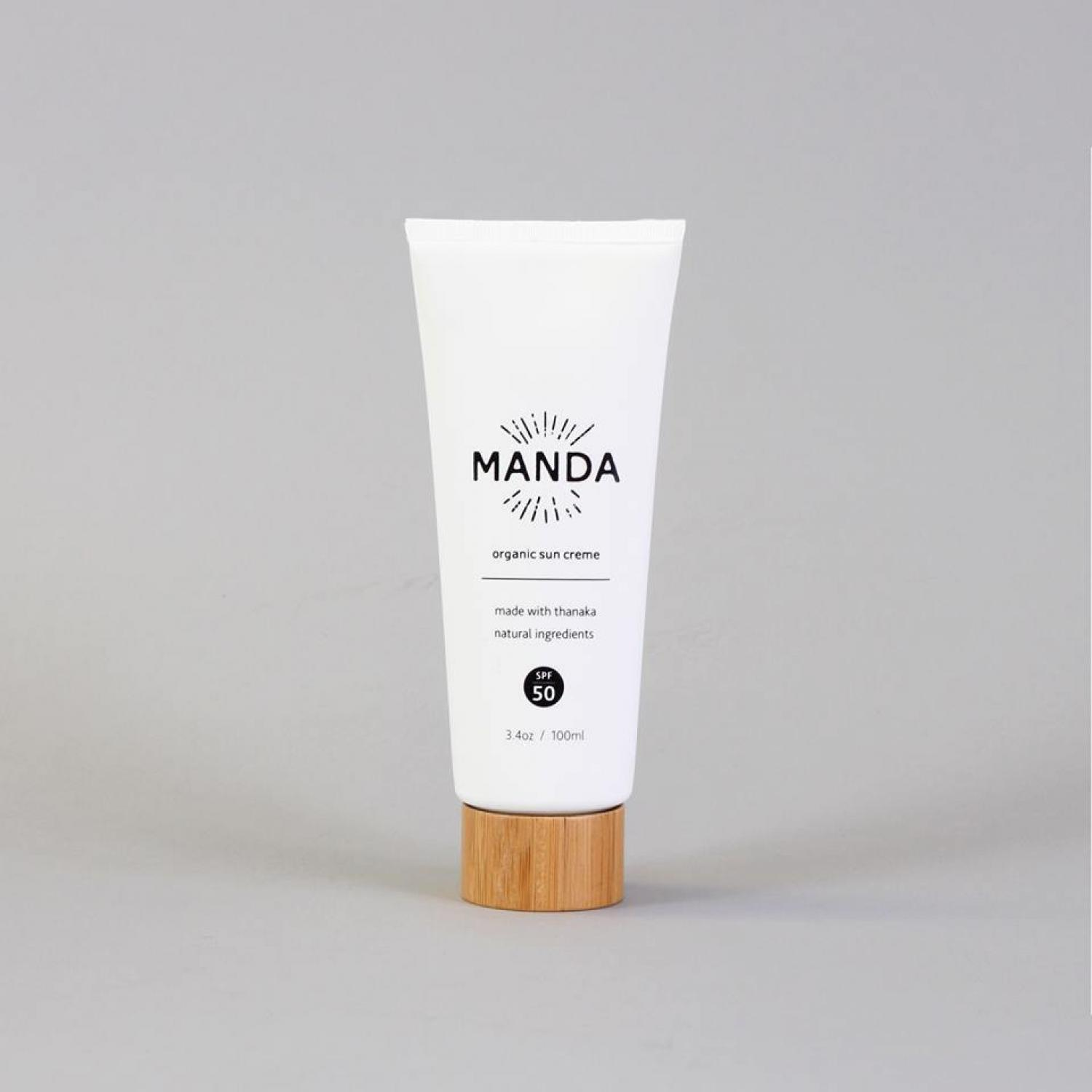 Manda Organic Sun Cream (SPF 50) - 94g (100 ml)