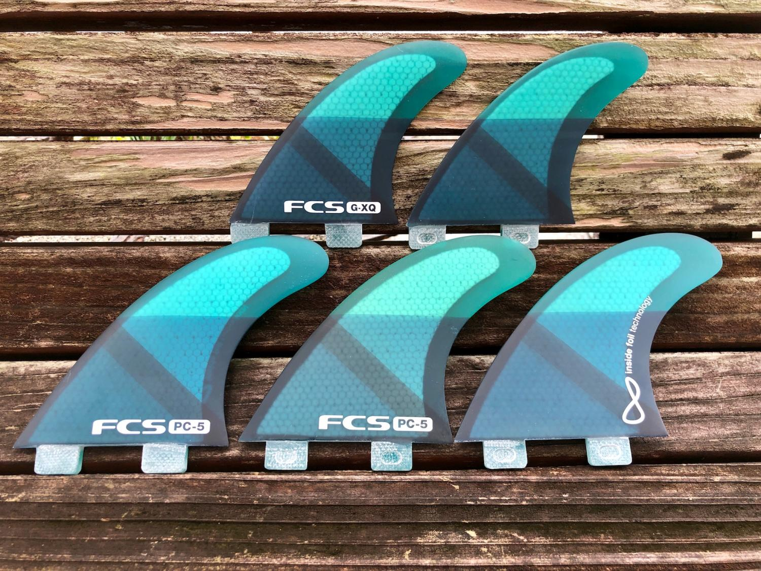 FCS PC-5 Tri-Quad Fins Set