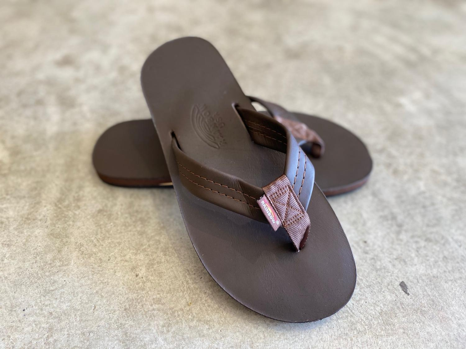 RAINBOW SANDALS MEN'S MOCHA CLASSIC LETHER single