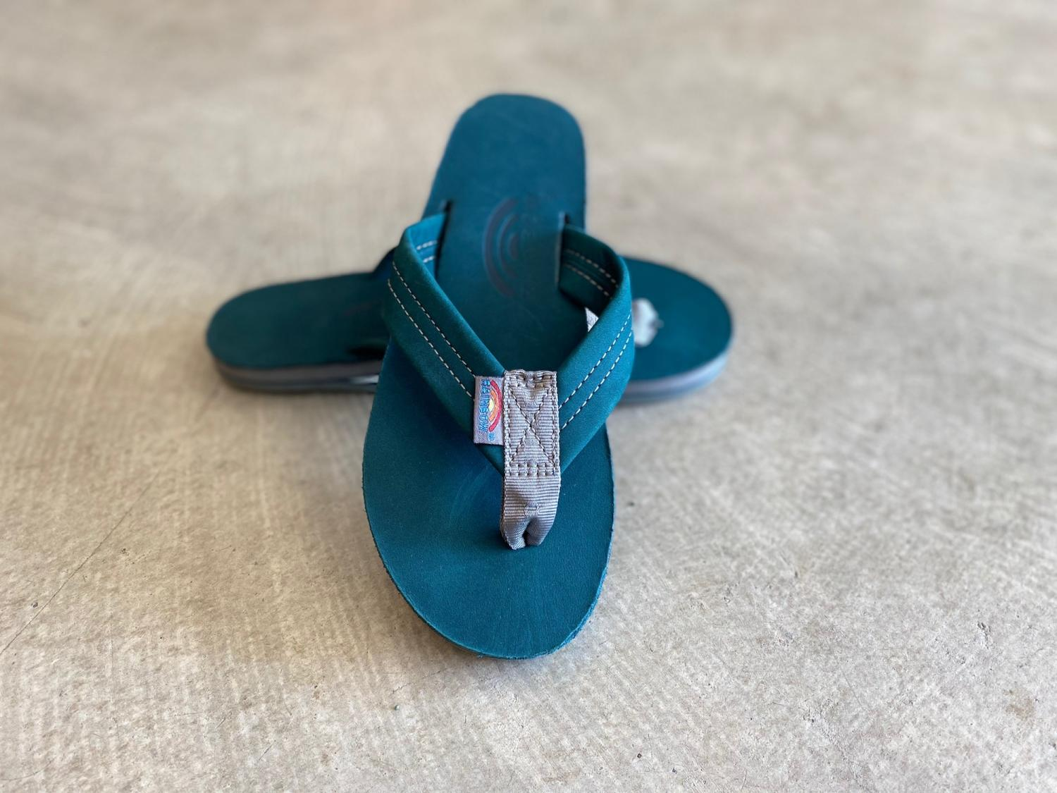 RAINBOW SANDALS WOMAN'S TURQUOISE BLUE ALTS Single Layer