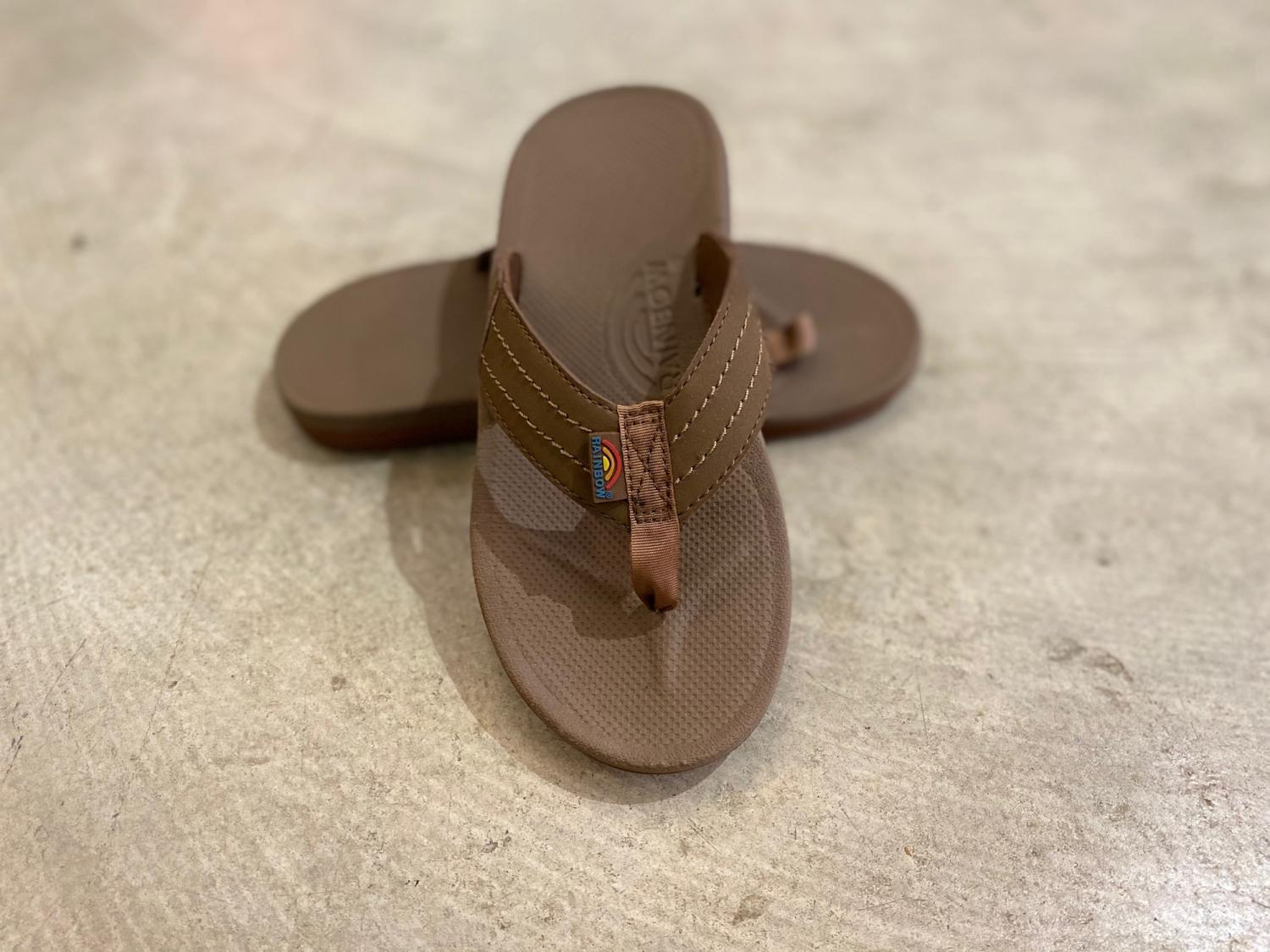 RAINBOW SANDALS KID'S CAPES Sierra Brown Molded Rubber Sandal with a Suede Strap