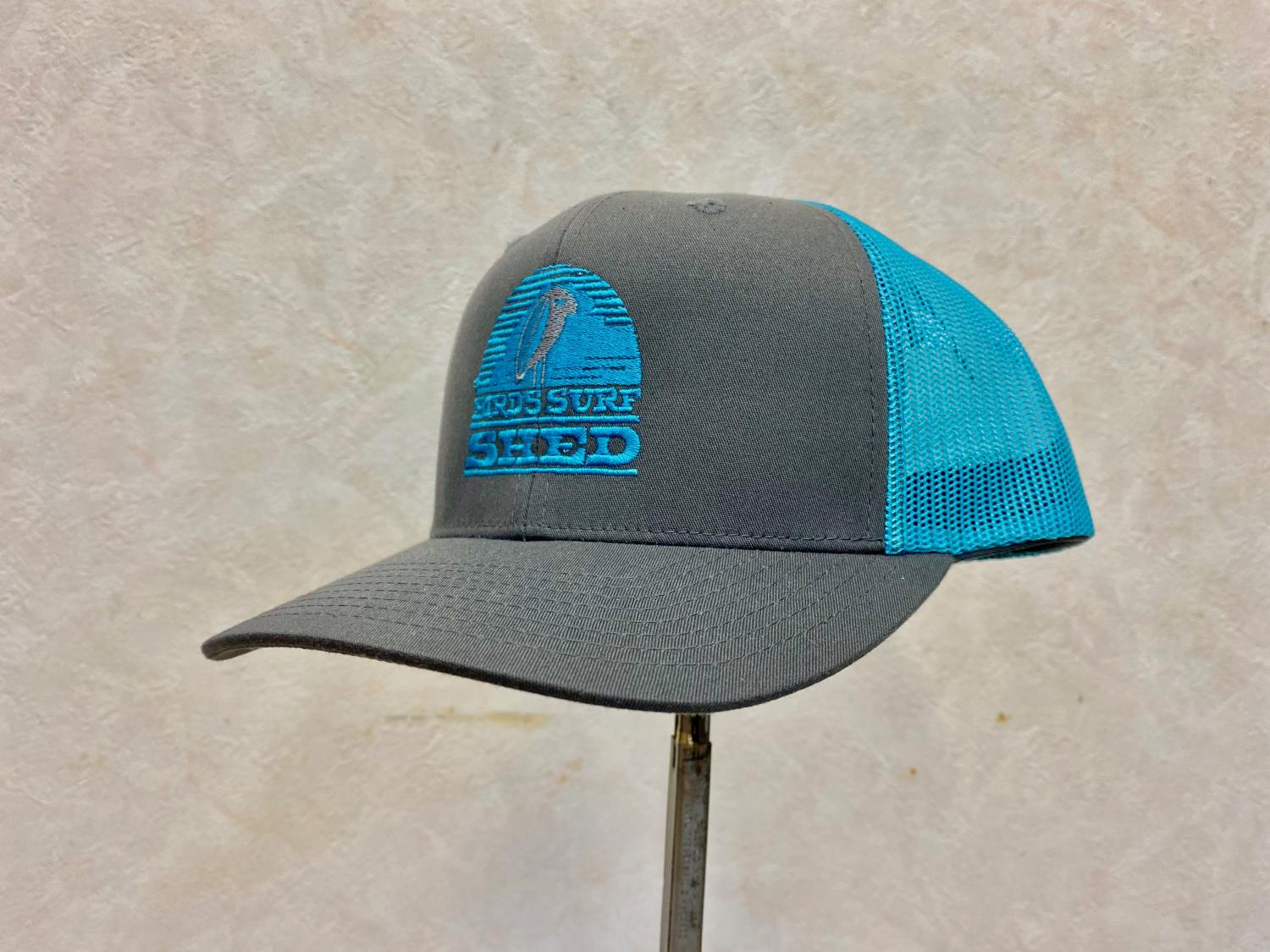 BSS OG Logo Adjustable Trucker Hat  Dark gray・Aqua