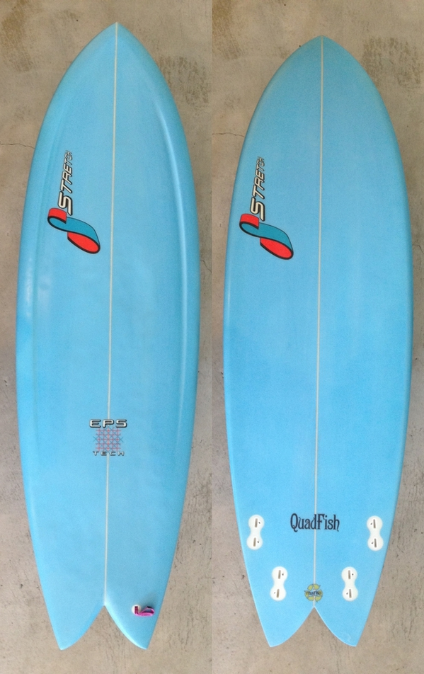 "USED BOARDS (STRETCH SURFBOARDS 「QUAD FISH 5'8""」 )"