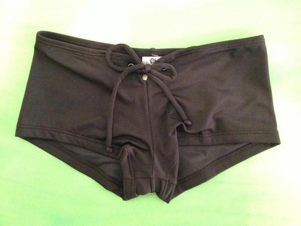 Pualani Hawaii BOTTOM 「TAHITI BLACK HIPSTER」 XXS