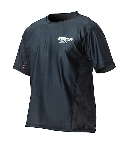 [BREAKER OUT] AIR-FAST RASH GUARD TEE BLK