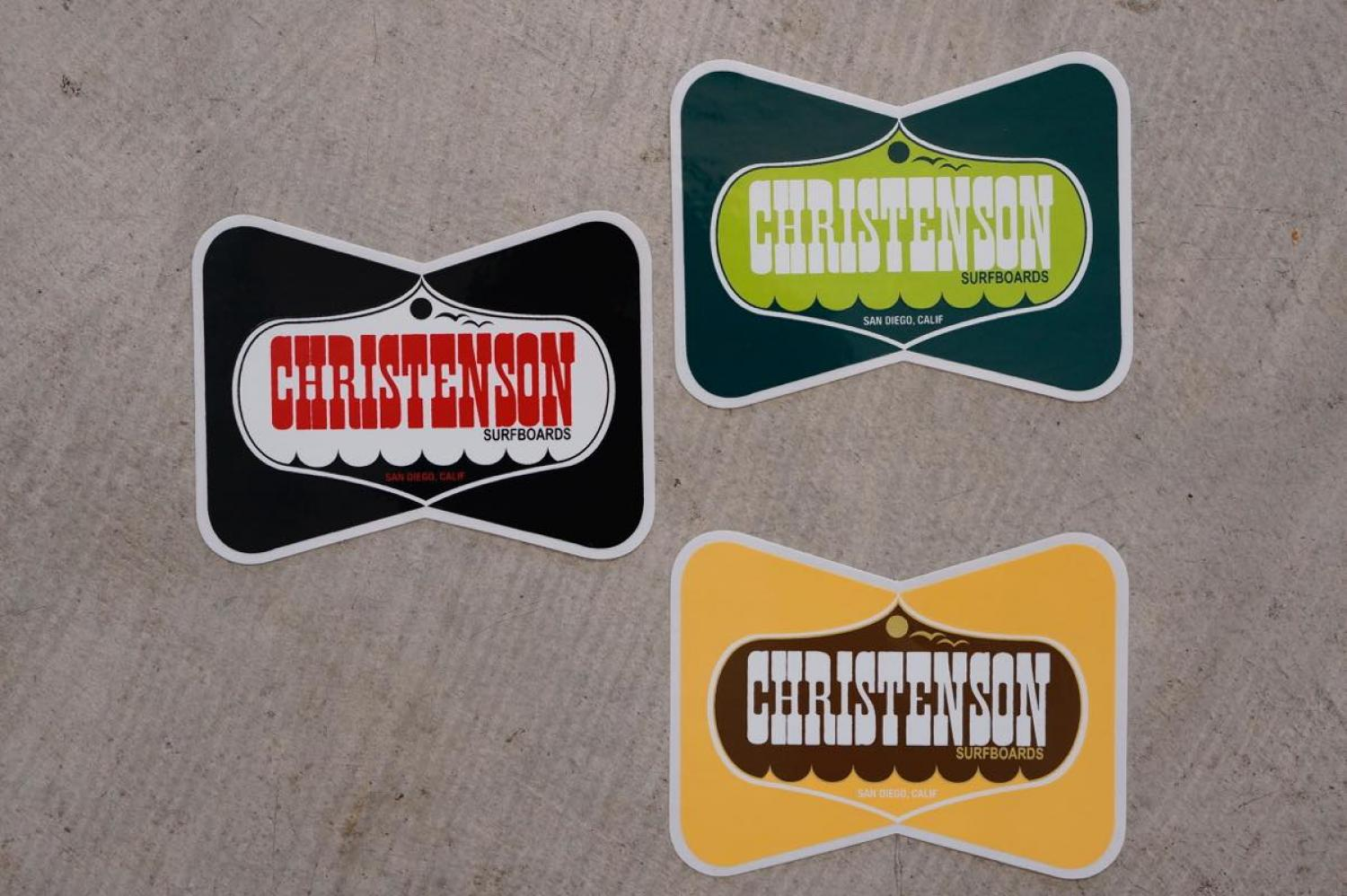 WESTERN LOGO STICKER [CHRISTENSON SURFBOARDS]