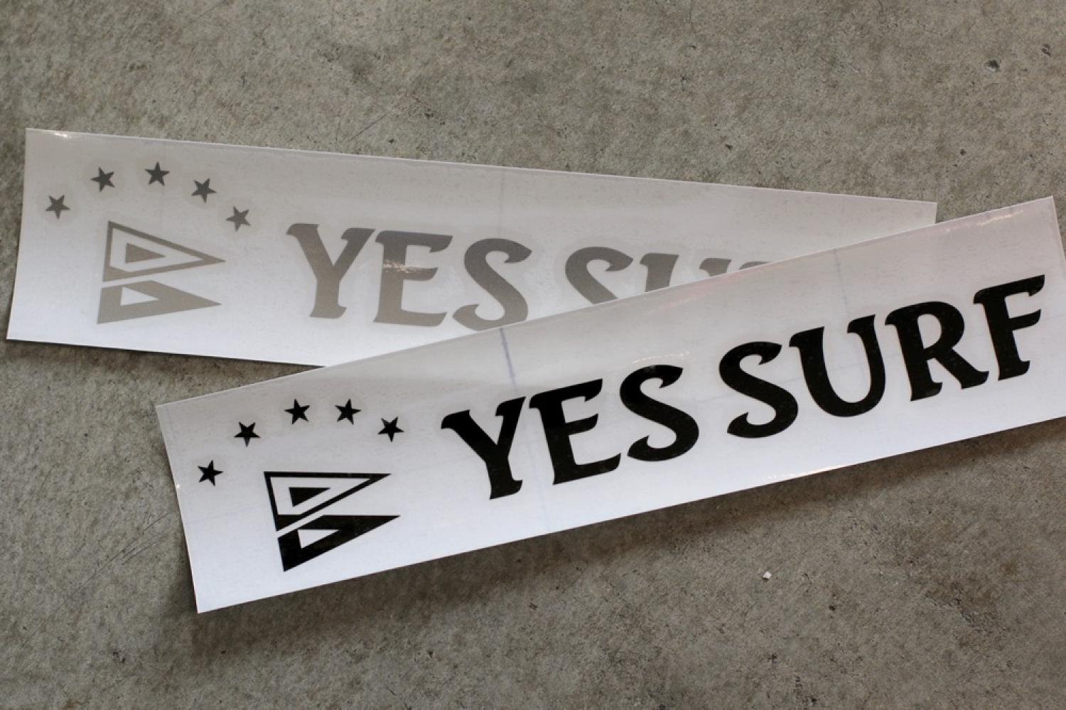 YES SURF LOGO   cutting sticker