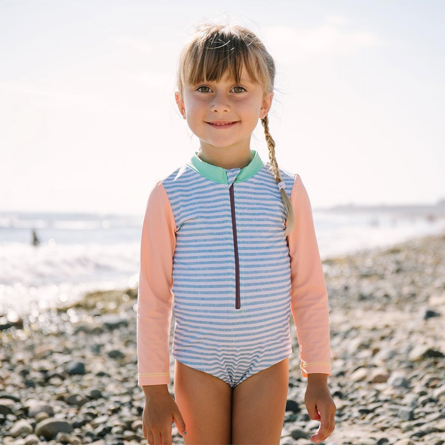 Mini Seea Sandpiper Kids Bodysuit Chambray