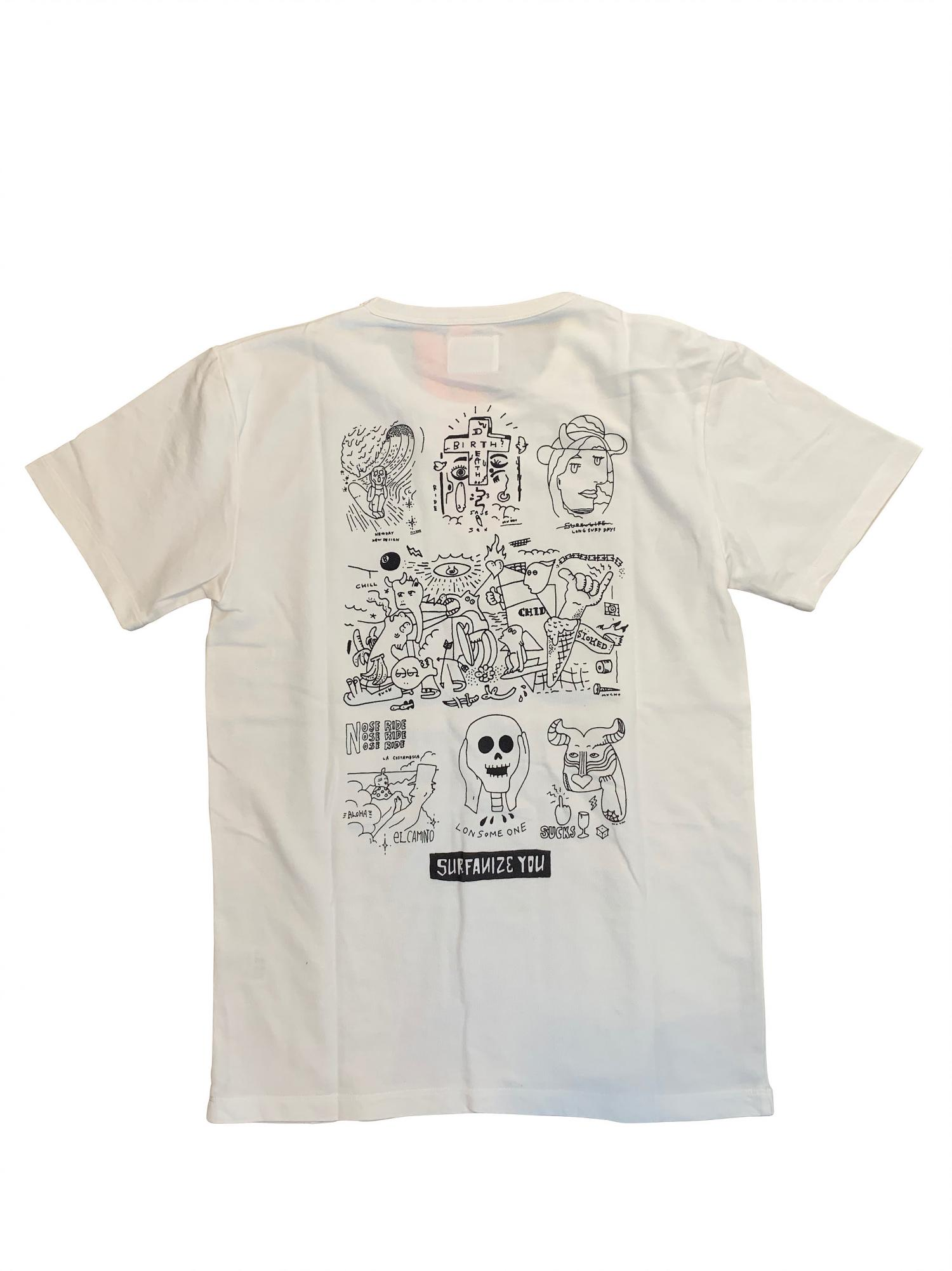 P SUPPLY. ARTIST Collaboration TEE -BACK PRINT ART-