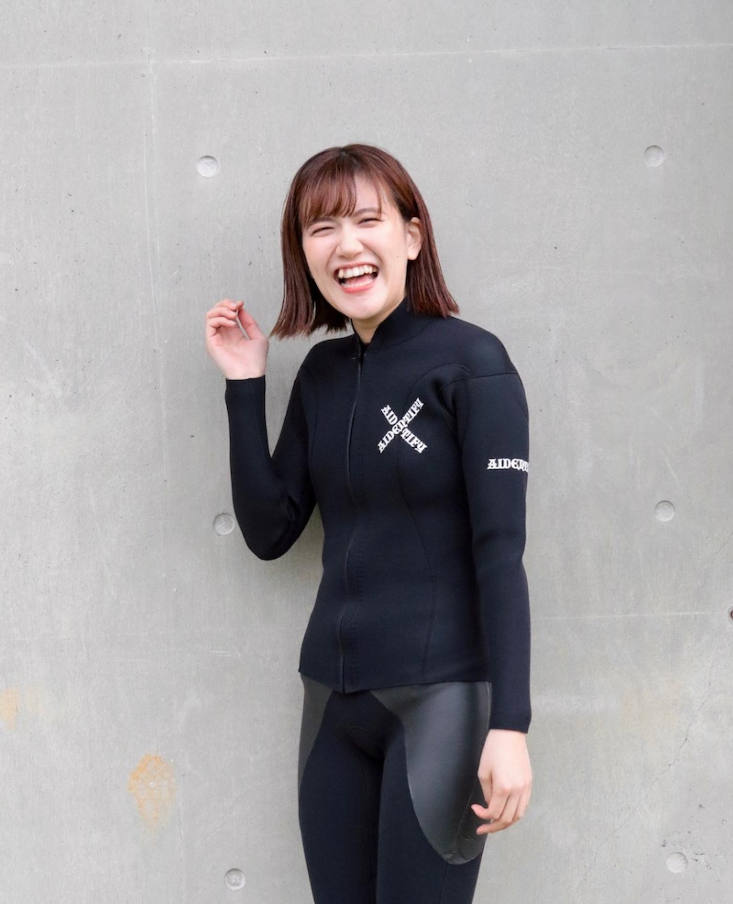 [AIDENTIFY] Limited フロントジップジャケット 2mm FEMME ALL BLACK