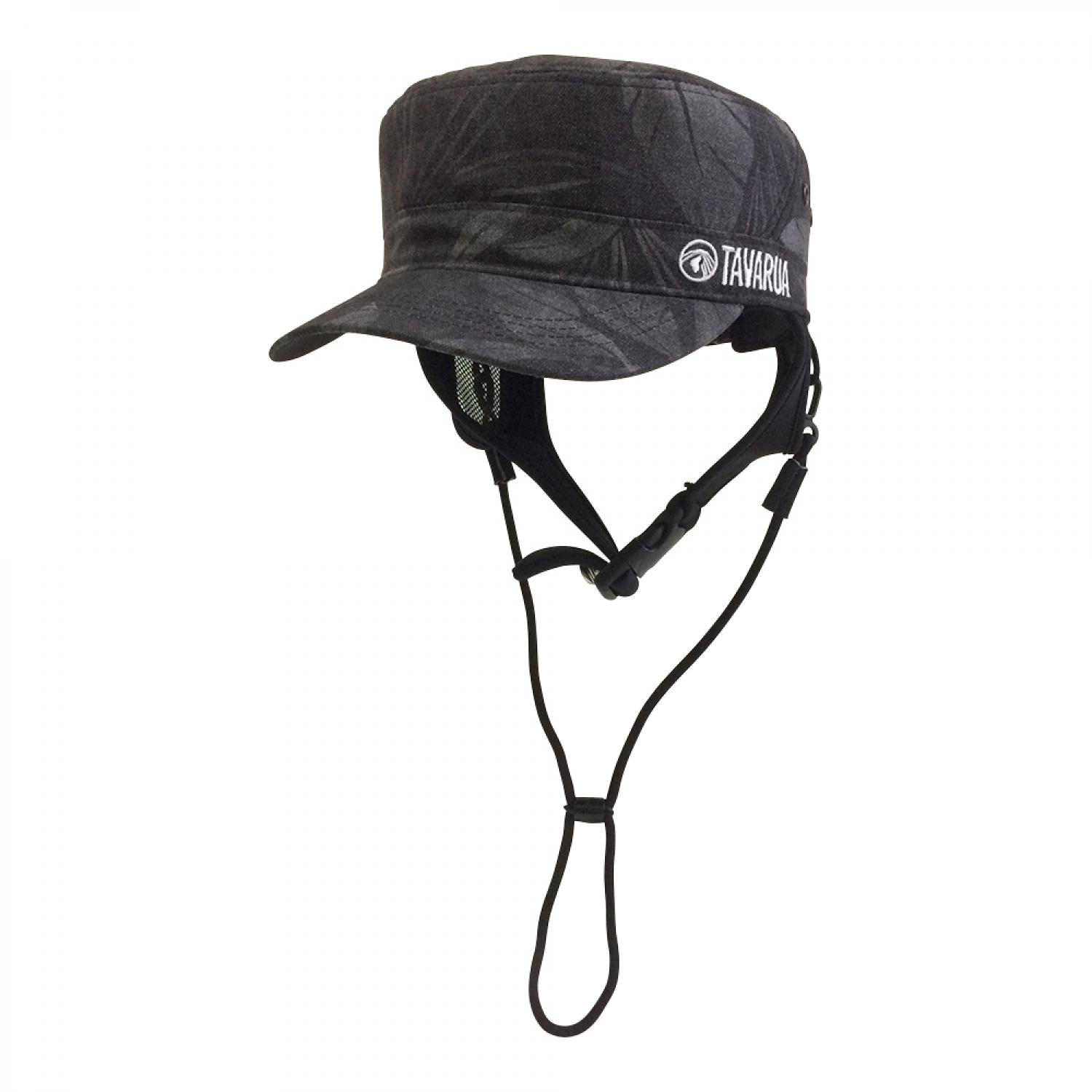 TAVARUA ウォームサーフCAP LEAF VINTAGE BLACK